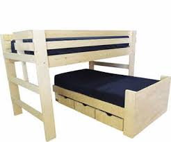 Bunk Bed With Shelves Bunk Beds For Youth Teen College And Adults Made In Usa