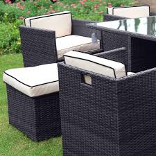 Rattan Patio Furniture Sets by Hartman Beaumont 4 Seater Round Set Garden Furniture 4 Seater