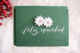 feliz navidad christmas card paperloveme calligraphy feliz navidad christmas cards