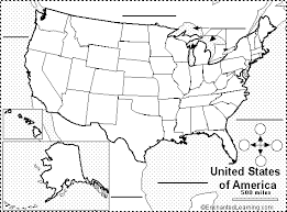 map of usa with compass find your state label me printout enchantedlearning com