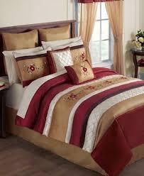 24 Piece Comforter Set Queen Sunham Lynette 24 Piece King Comforter Set Red Gold