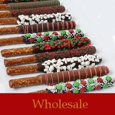 wholesale pretzel rods wholesale christmas decorated pretzel rods dipped in rich chocolate