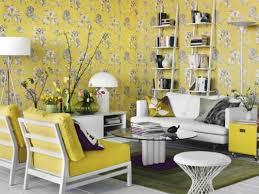 yellow decor ideas interior design gray yellow wallpaper flowers fall decorating
