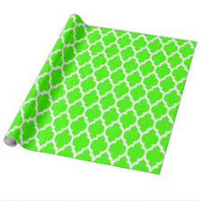 quatrefoil wrapping paper lime green and white wrapping paper zazzle