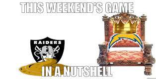 Chargers Raiders Meme - chargers vs raiders quickmeme