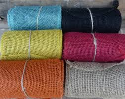 colored burlap ribbon burlap etsy