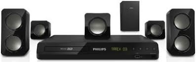 Buy Philips Hts5520 94 5 1 Dvd Home Theatre System Online At Best - philips home theater price list in india speakers system