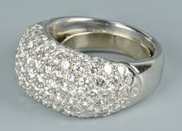 platinum pave rings images 108 platinum diamond pave dome ring jpg