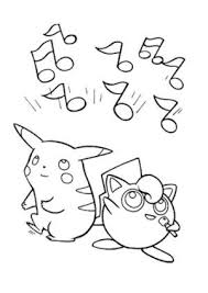pikachu plusle and minun electric pokemon coloring page pikachu