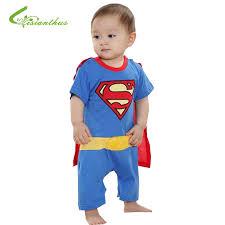 Toddler Superman Halloween Costume Aliexpress Buy Baby Boy Romper Superman Batman Short Sleeve
