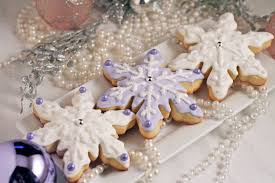 snowflake sugar cookies let it snow christmas snowflake sugar cookies lavender white