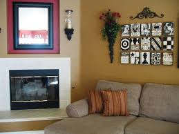 stylish wall decor living room ideas with artistic wall decor for