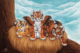 winged tiger cubs by dolphiana fur affinity dot
