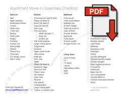 Bathroom Necessities Checklist Apartment Move In Checklist Off Campus Housing Blog