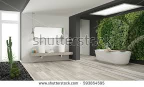White And Gray Bathroom by Minimalist White Bathroom Vertical Succulent Garden Stock