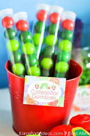 gumball party favors kara s party ideas the hungry caterpillar 3rd birthday party