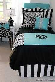 light blue girls bedding tiffany blue black damask designer dorm bedding set dorms