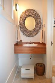 powder room sinks and vanities powder room sink teak shell mirror beach style vanity cabinets