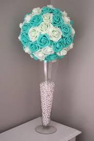 Tiffany Blue Wedding Centerpiece Ideas by Royal Blue Flower Ball Wedding Centerpiece By Kimeekouture Star