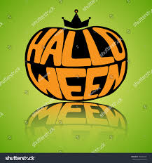 halloween background for word vector illustration inscription letters word halloween stock