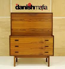Tall Narrow Secretary Desk by Mid Century Danish Modern Rosewood Secretary Desk Dresser Credenza
