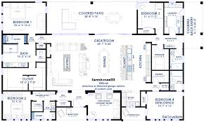 split bedrooms farmhouse33 modern farmhouse plan farmhouse plans loft style