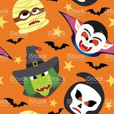 seamless halloween background seamless halloween background vector stock vector art 483874272