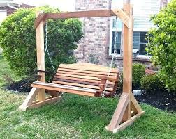 Patio Chair Swing Sofa Garden Swing Seat Outdoor Porch Bed Wooden Garden Swing Porch