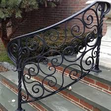 How To Make A Banister For Stairs Custom Made To Order Ornamental Metal Railings And Enclosures