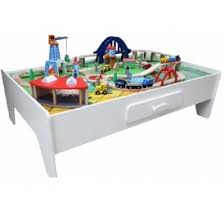wooden train set table george home wooden train set and table 50 asda george
