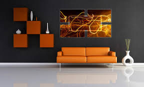 orange living room my art on a brown wall in living room settings alexei rebrov art