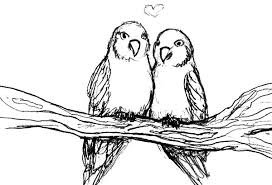drawing love birds coloring pages batch coloring