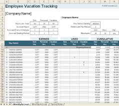 Excel Database Templates Free Vacation Accrual And Tracking Template With Sick Leave Accrual