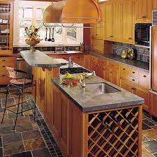 kitchen islands prep sink wine storage and breakfast bars