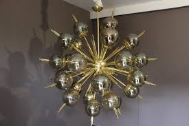 glass globes for chandeliers sputnik chandelier in brass with golden and mercury murano glass