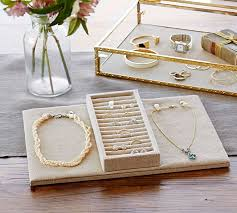 Pottery Barn Jewelry Stand Antique Gold Jewelry Boxes Pottery Barn