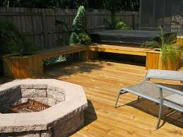 Backyard Deck And Patio Ideas by Deck With Fire Pit Fire Pits Exterior Concepts Blog For The