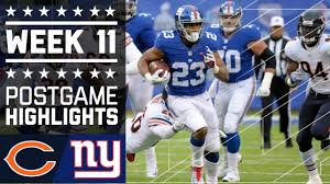 nfl thanksgiving games 2014 bears vs giants nfl week 11 game highlights youtube