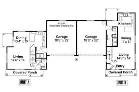 Duplex Floor Plan Country House Plans Warrendale 60 036 Associated Designs