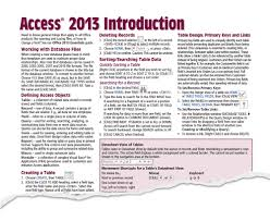 access 2013 quick reference cheat sheet guide card beezix