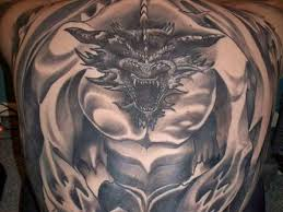 dragon full body tattoo on back toycyte