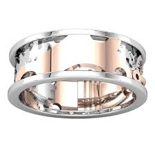 steunk engagement ring mens steunk style mixed metal unique band ring portfolio