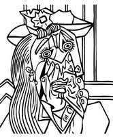 coloring pages picasso