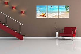 canvas print wall art painting for home decor seascape of sandy