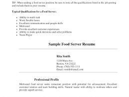 Server Resume Sample by Server Resume Sample Cv Resume Ideas