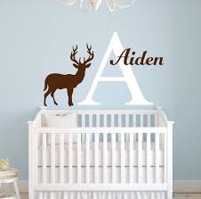 online get cheap baby deer wall decals aliexpress com alibaba group deer silhouette wall decal custom personalized baby name vinyl wall sticker home nursery bedroom art decor