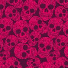 sugar skull plum wallpaper tiles contemporary wallpaper by