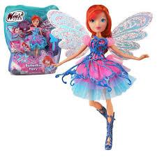 Winx Club  Butterflix Fairy  Bloom Poupée 28cm avec magique Robe