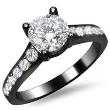 black gold engagement ring noori 14k black gold 1 1 2ct tdw 3 princess cut diamond