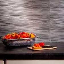 Fasade 24 in x 18 in Ripple PVC Decorative Backsplash Panel in